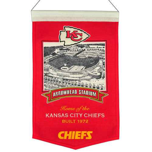 "Kansas City Chiefs Arrowhead Stadium Wool 15"" x 20"" Commemorative Banner"
