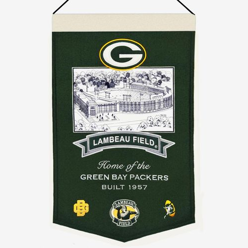 "Green Bay Packers Lambeau Field Wool 15"" x 20"" Commemorative Banner"