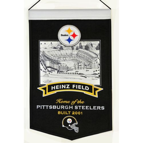 "Pittsburgh Steelers Heinz Field Wool 15"" x 20"" Commemorative Banner"