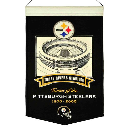 "Pittsburgh Steelers Three River Stadium Wool 15"" x 20"" Commemorative Banner"