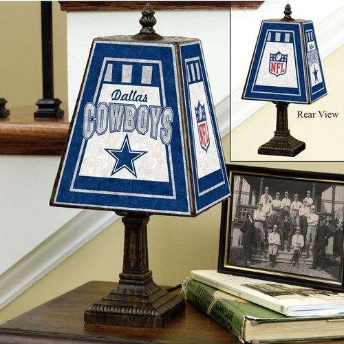 Dallas Cowboys Art Glass Lamp