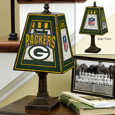 Green Bay Packers Art Glass Lamp