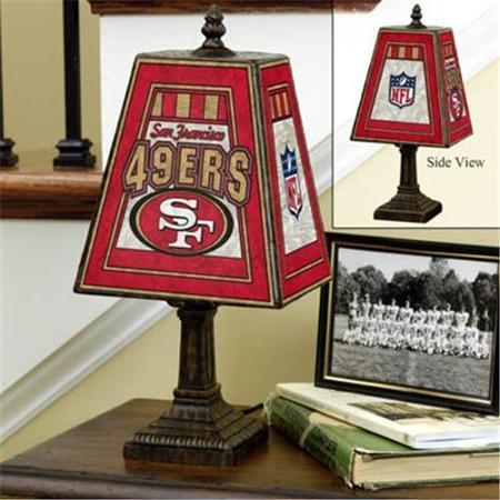 San Francisco 49ers Art Glass Lamp