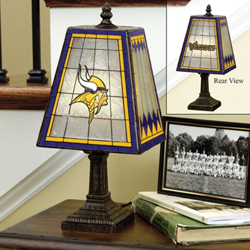 Minnesota Vikings Art Glass Lamp