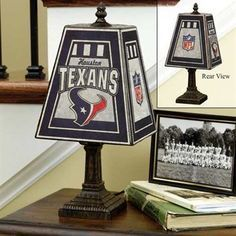 Houston Texans Art Glass Lamp