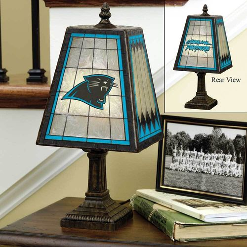 Carolina Panthers Art Glass Lamp