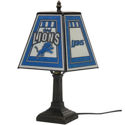 Detroit Lions Art Glass Lamp