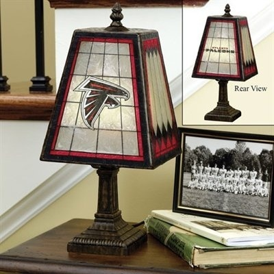 Atlanta Falcons Art Glass Lamp