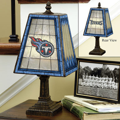 Tennessee Titans Art Glass Lamp