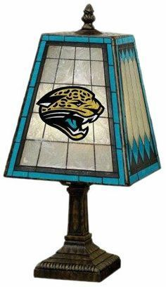 Jacksonville Jaguars Art Glass Lamp