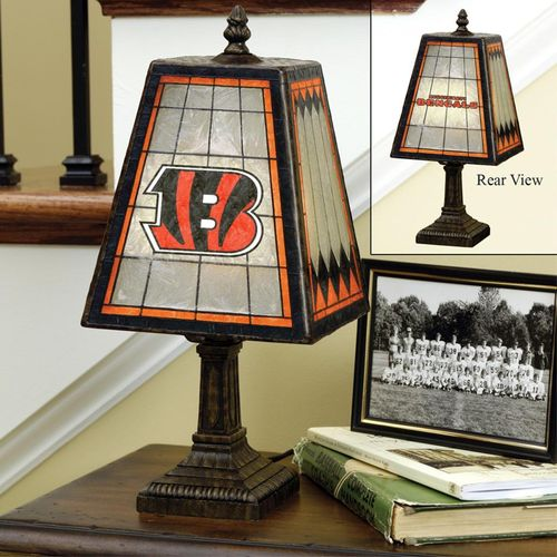 Cincinnatti Bengals Art Glass Lamp