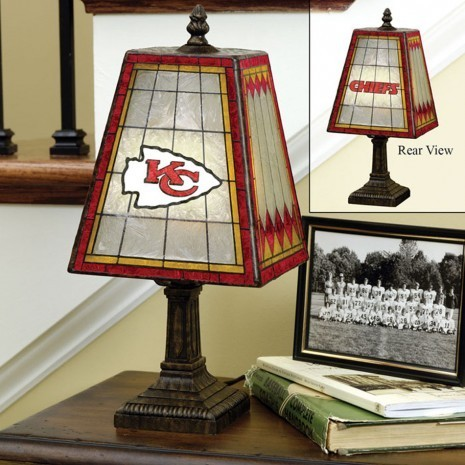 Kansas City Chiefs Art Glass Lamp