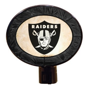 Oakland Raiders Art Glass Nightlight