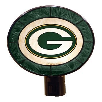 Green Bay Packers Art Glass Nightlight