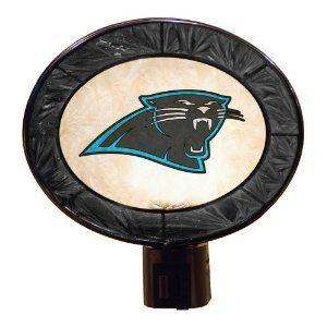 Carolina Panthers Art Glass Nightlight