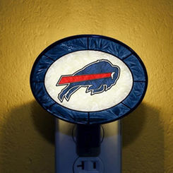 Buffalo Bills Art Glass Nightlight