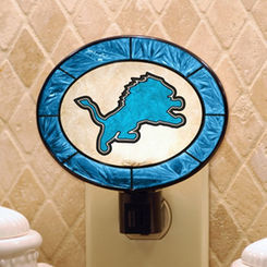 Detroit Lions Art Glass Nightlight