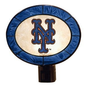 New York Mets Art Glass Nightlight