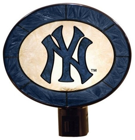New York Yankees Art Glass Nightlight