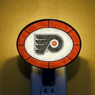 Philadelphia Flyers Art Glass Nightlight
