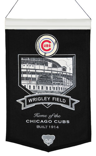 "Chicago Cubs Wrigley Field Wool 15"" x 20"" Commemorative Banner"