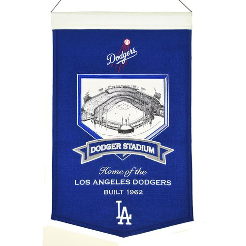 "Los Angeles Dodgers Stadium Wool 15"" x 20"" Commemorative Banner"