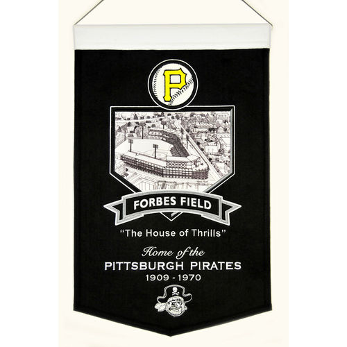 "Pittsburgh Pirates Forbes Field Wool 15"" x 20"" Commemorative Banner"