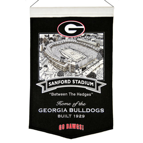 "Georgia Bulldogs Sanford Stadium Wool 15"" x 20"" Commemorative Banner"