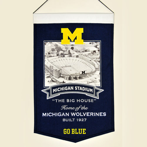 "Michigan Wolverines Michigan Stadium Wool 15"" x 20"" Commemorative Banner"