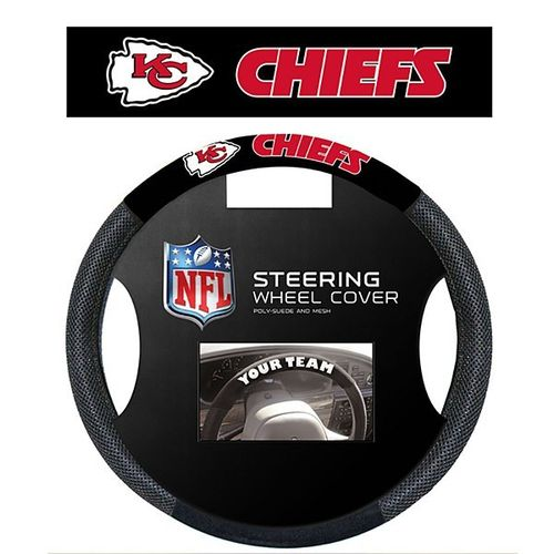 Kansas City Chiefs Steering Wheel Cover
