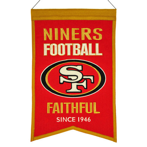 "San Francisco 49ers Wool 14"" x 22"" Nations Banner"