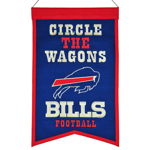 "Buffalo Bills Wool 14"" x 22"" Nations Banner"