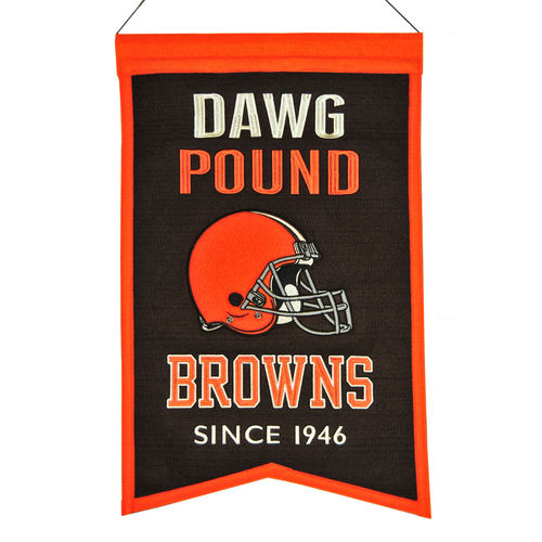 "Cleveland Browns Wool 14"" x 22"" Nations Banner"