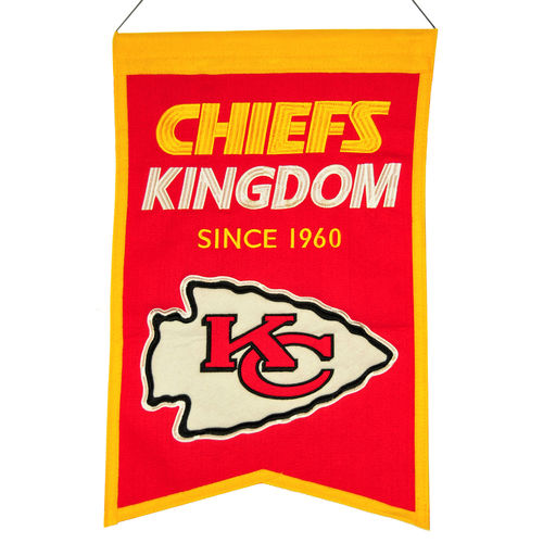 "Kansas City Chiefs Wool 14"" x 22"" Nations Banner"