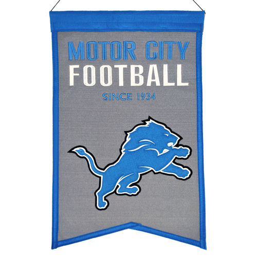 "Detroit Lions Wool 14"" x 22"" Nations Banner"