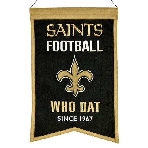 "New Orleans Saints Wool 14"" x 22"" Nations Banner"