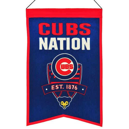 "Chicago Cubs Wool 14"" x 22"" Nations Banner"