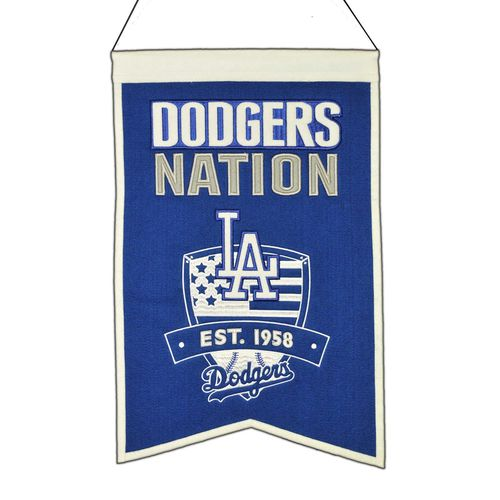"Los Angeles Dodgers Wool 14"" x 22"" Nations Banner"