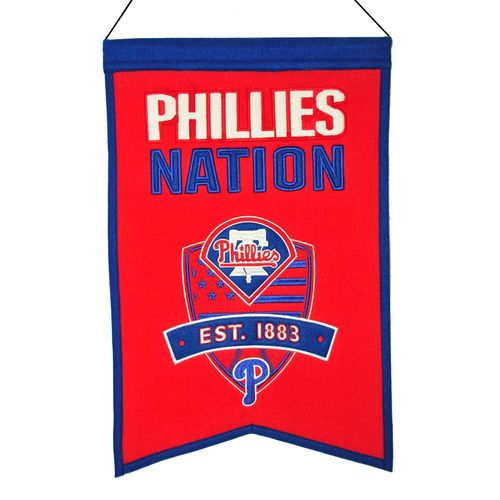 "Philadelphia Phillies Wool 14"" x 22"" Nations Banner"