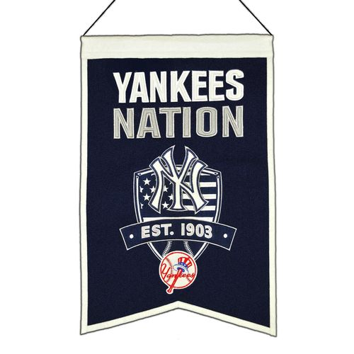 "New York Yankees Wool 14"" x 22"" Nations Banner"