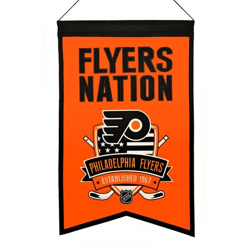 "Philadelphia Flyers Wool 14"" x 22"" Nations Banner"
