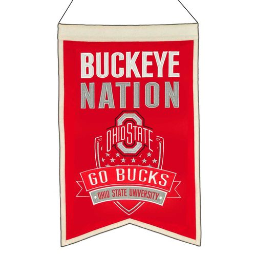 "Ohio State Buckeyes Wool 14"" x 22"" Nations Banner"