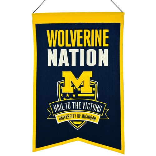 "Michigan Wolverines Wool 14"" x 22"" Nations Banner"