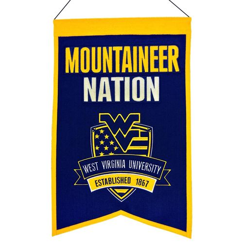 "West Virginia Mountaineers Wool 14"" x 22"" Nations Banner"