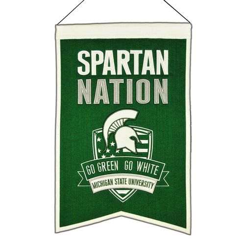 "Michigan State Spartans Wool 14"" x 22"" Nations Banner"