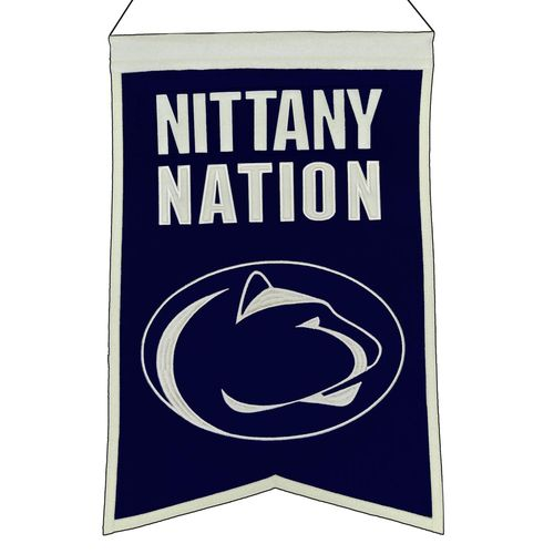 "Penn State Nittany Lions Wool 14"" x 22"" Nations Banner"