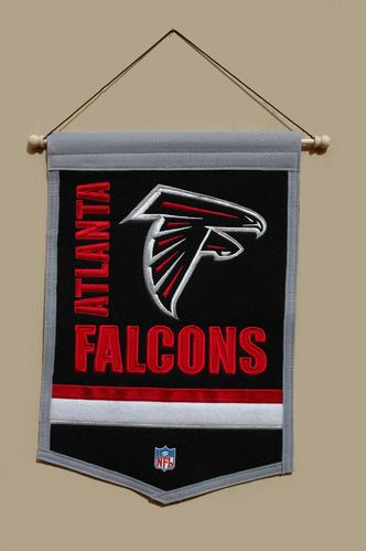 "Atlanta Falcons Wool 18"" x 12"" Traditions Banner"
