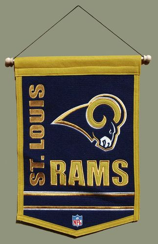 "St. Louis Rams Wool 18"" x 12"" Traditions Banner"
