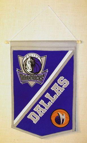 "Dallas Mavericks Wool 18"" x 12"" Traditions Banner"