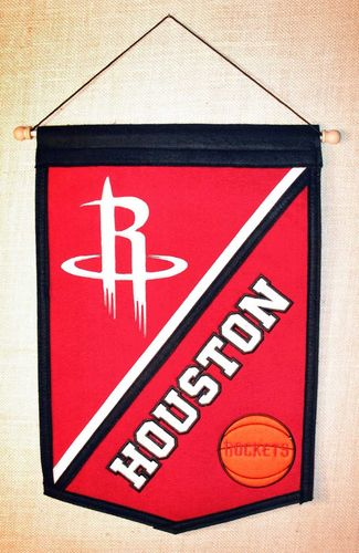 "Houston Rockets Wool 18"" x 12"" Traditions Banner"